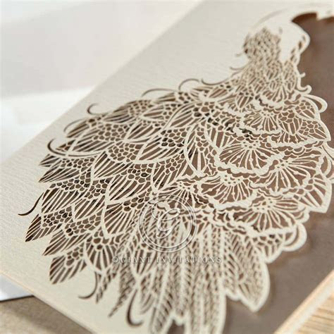 Peacock Laser Cut   Modern, Intricate, Graceful Design