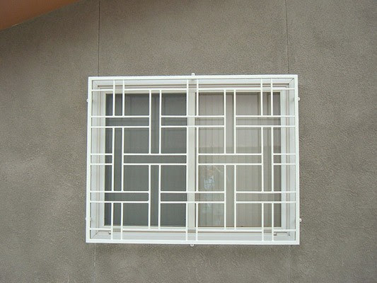 Box Frame Basketweave Design Window Grills Our Products