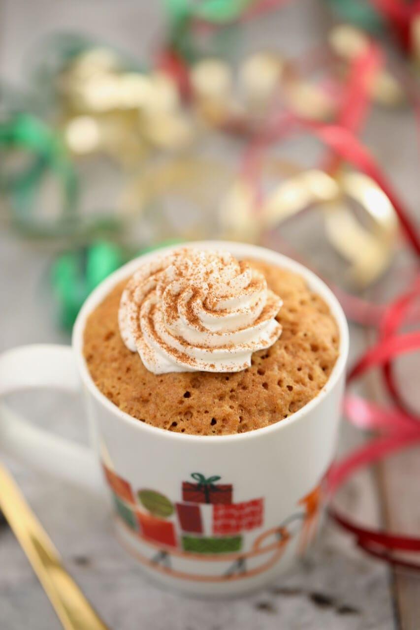 Gingerbread Mug Cake (Egg Free) - Gemma's Bigger Bolder Baking