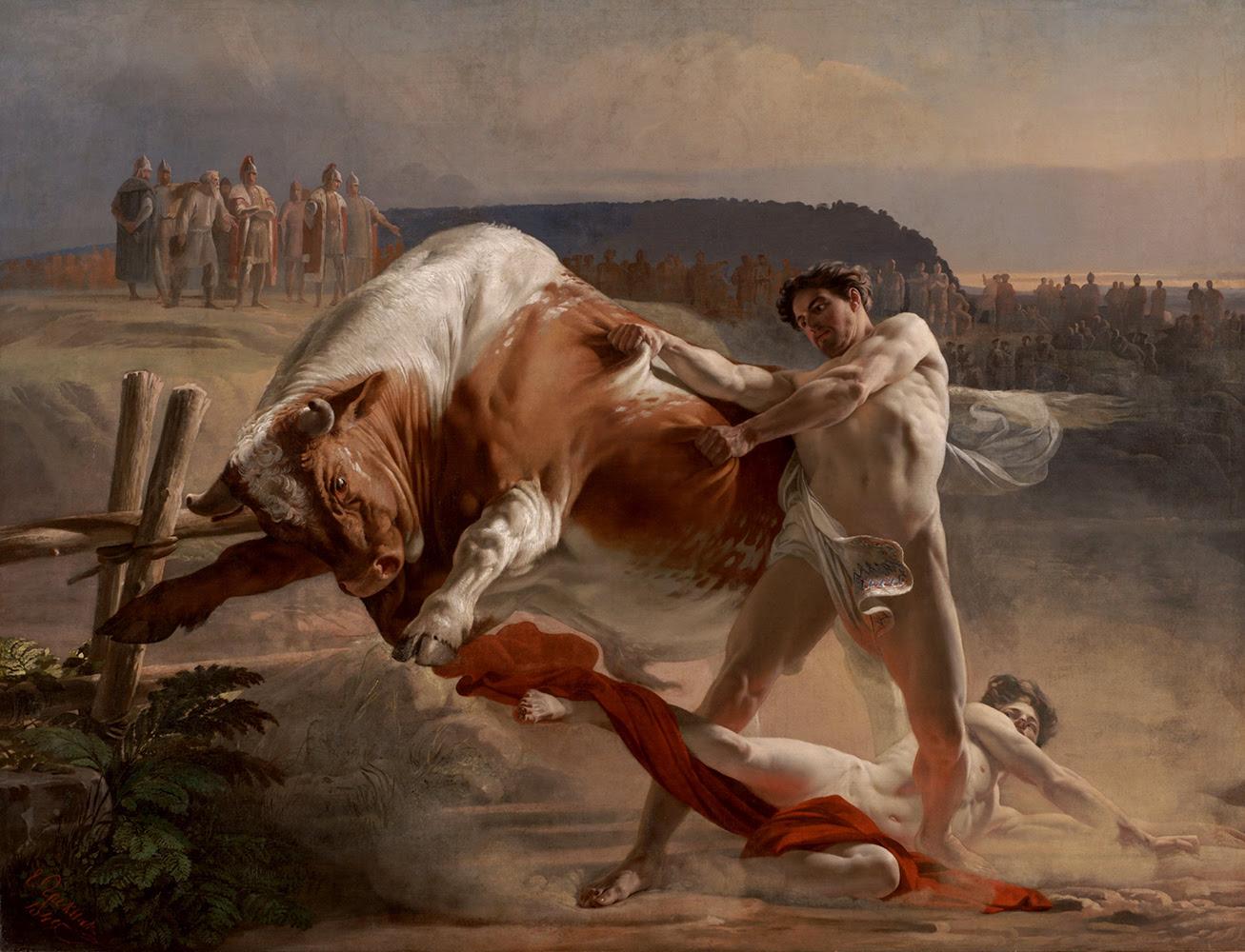 Parando un toro hambriento - Semenovich