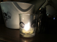 Creepy Doll Candle Varnished