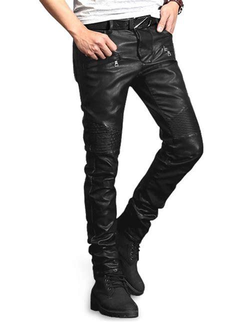 Yonex Black Stretch Faux Leather Jeans : MakeYourOwnJeans