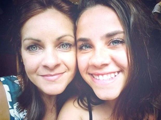 Mãe viajou mais de seis horas para encontrar filha (Foto: Arquivo Pessoal)