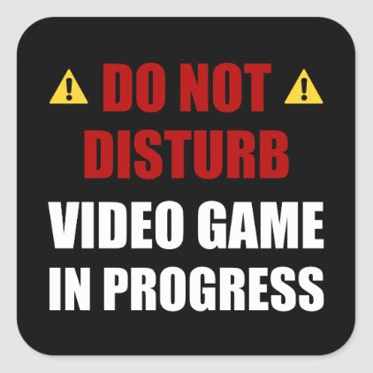 Do Not Disturb Video Game Square Sticker