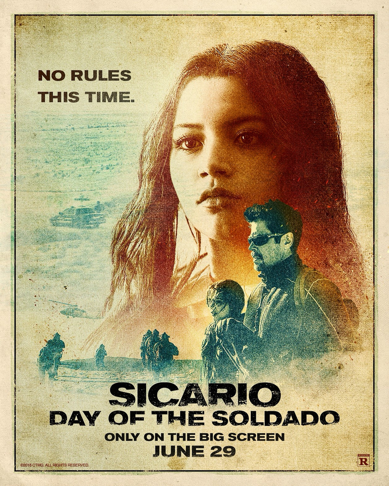 Risultati immagini per sicario day of the soldado movie poster