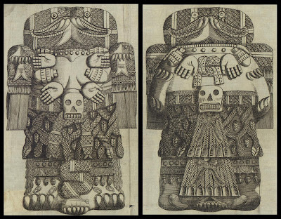 Details from Aztec stones described by Antonio de León y Gama