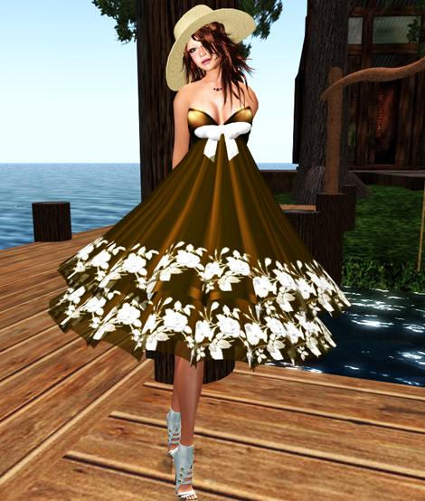NEW! *Bliss Couture*  Erin Dress (Gold)