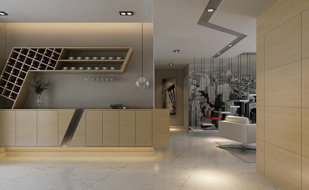 Kitchen wine rack   Interior Design Ideas.