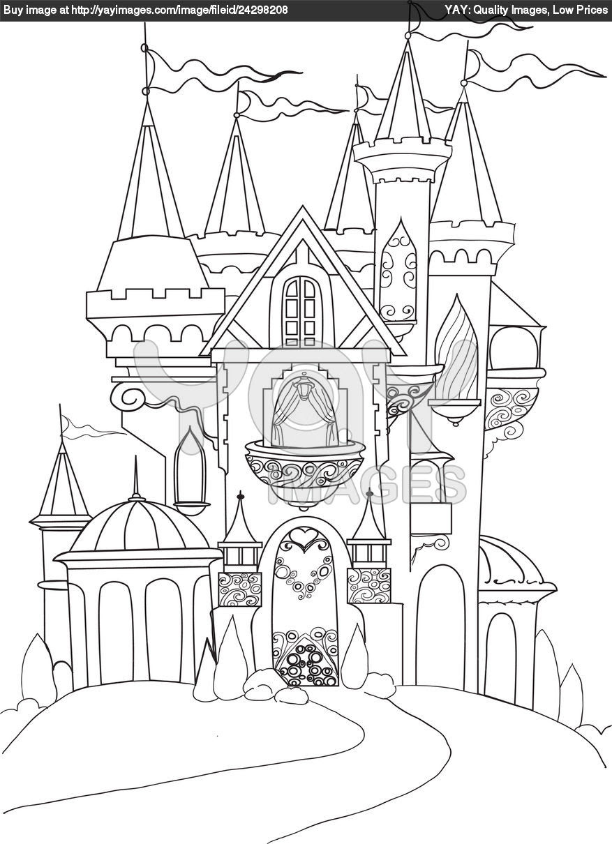 Mewarnai Gambar Istana Sofia Sketch Coloring Page