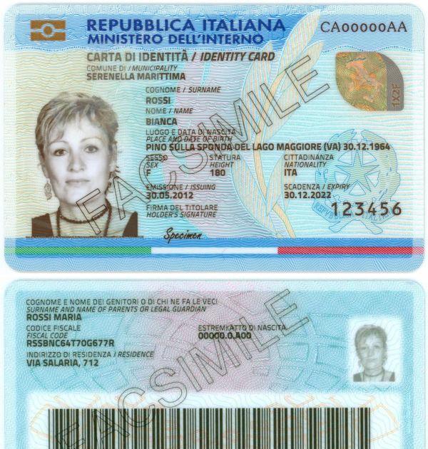 Carta D'identità Valida Per L'espatrio Per Stranieri ...