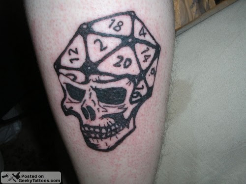 Dice To Your Dome At Geeky Tattoos