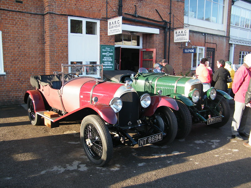 Brooklands New Year's Day 2013 - Bentleys outside the club-house