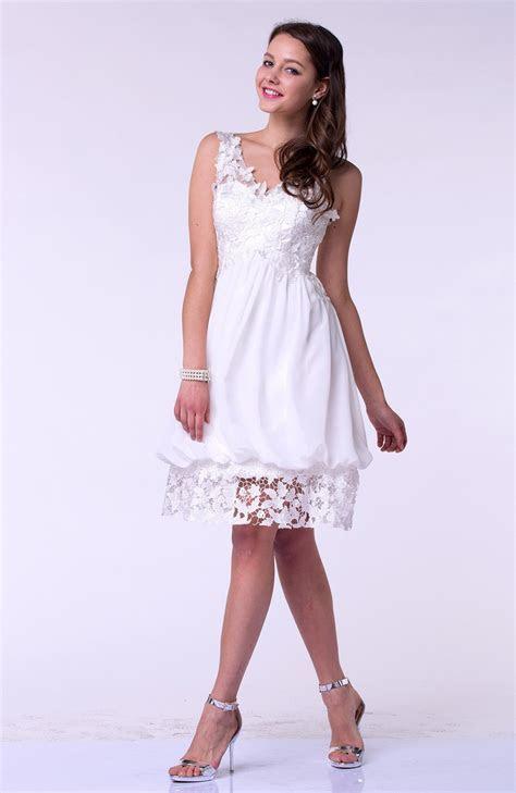 White Modern Baby Doll V neck Sleeveless Knee Length Short