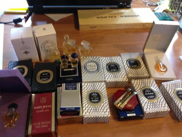 GUERLAIN 17 miniatures avec boites, chamade, Shalimar,  Mitsouko,