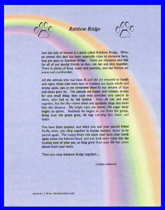 Rainbow Bridge Poem