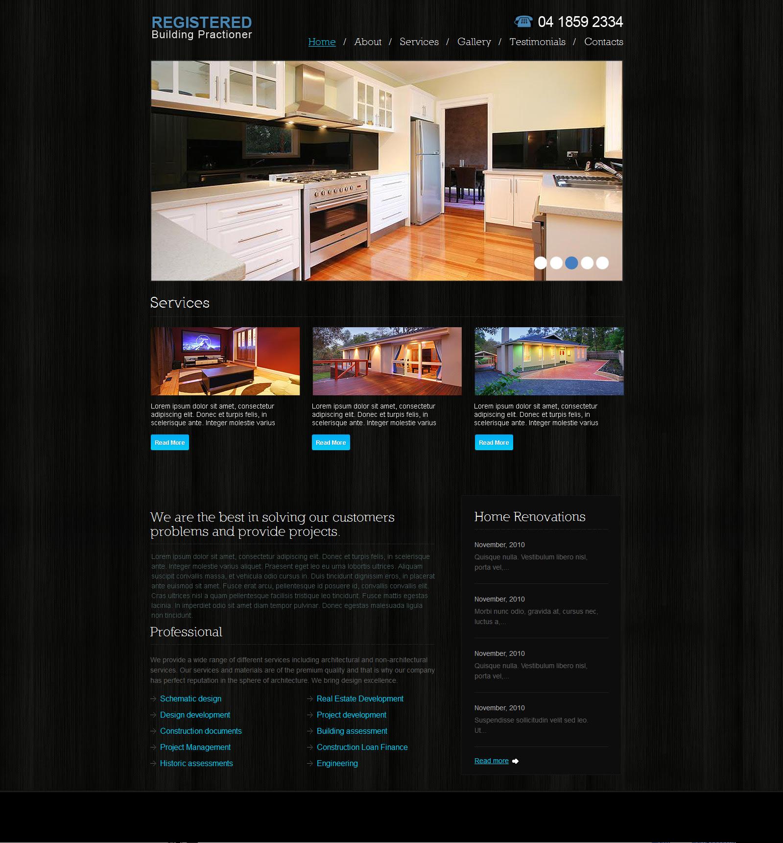 Home extensions website design Melbourne  Axpamdesign
