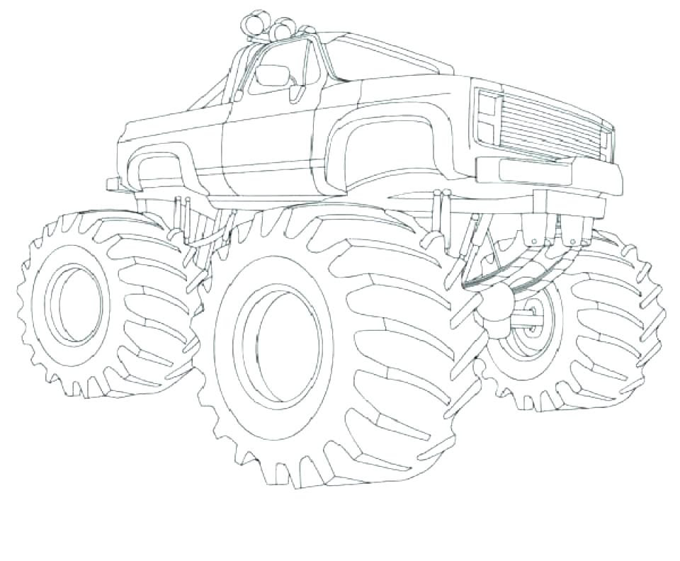 Grave Digger Monster Truck Coloring Pages at GetColorings ...