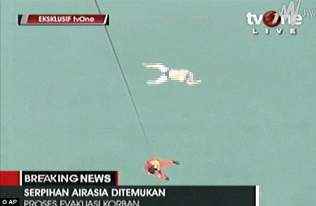 Images shown on Indonesian television showed at least one corpse floating in the water