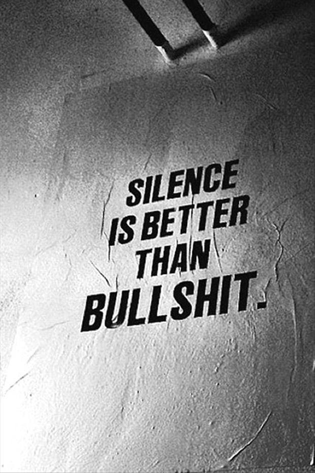 Funny Quotes Silence Is Better Than Bullshit Dump A Day