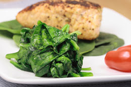 Cooked spinach is one of the best natural food sources of lutein and zeaxanthin.