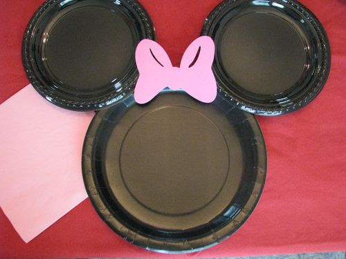 Cute Minnie Mouse Plates for Parties.