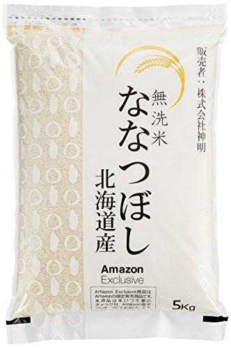 【精米】【Amazon.co.jp限定】北海道産 無洗米 ななつぼし5kg 平成27年産(チャック機能付特別パッケージ)