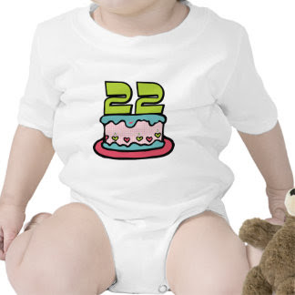 Birthday Gift Ideas 22 Year Old On Cake T Shirts