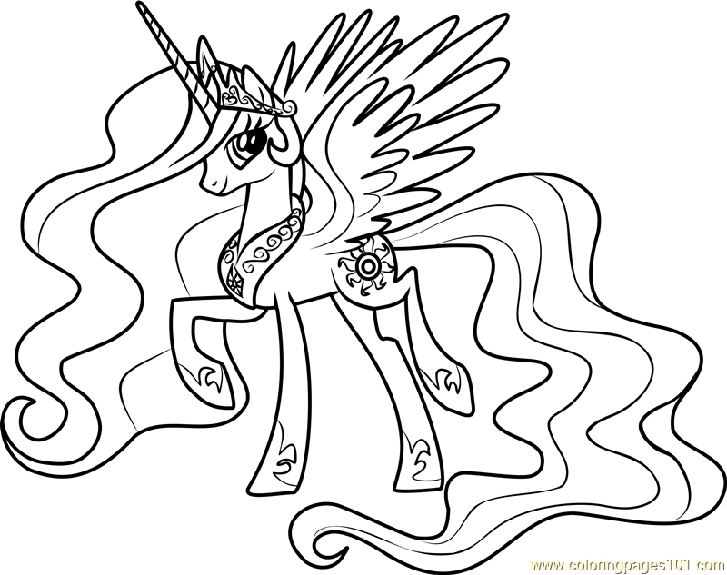 Princess Celestia Coloring Page Free My Little Pony Friendship Is Magic Coloring Pages