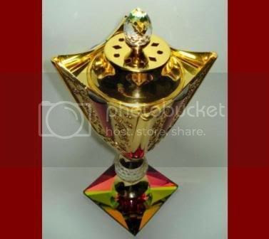 Golden Bakhoor Burner