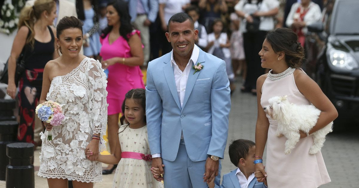 Image result for carlos tevez wedding