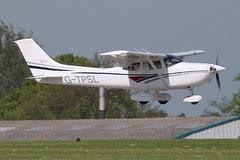 G-TPSL - 1998 build Cessna 182S Skylane, arriving at AeroExpo 2012
