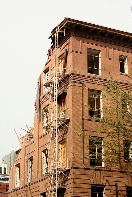demolition, park blocks