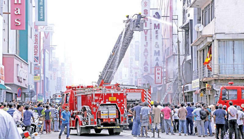 A fire erupted in a shop at Main Street
