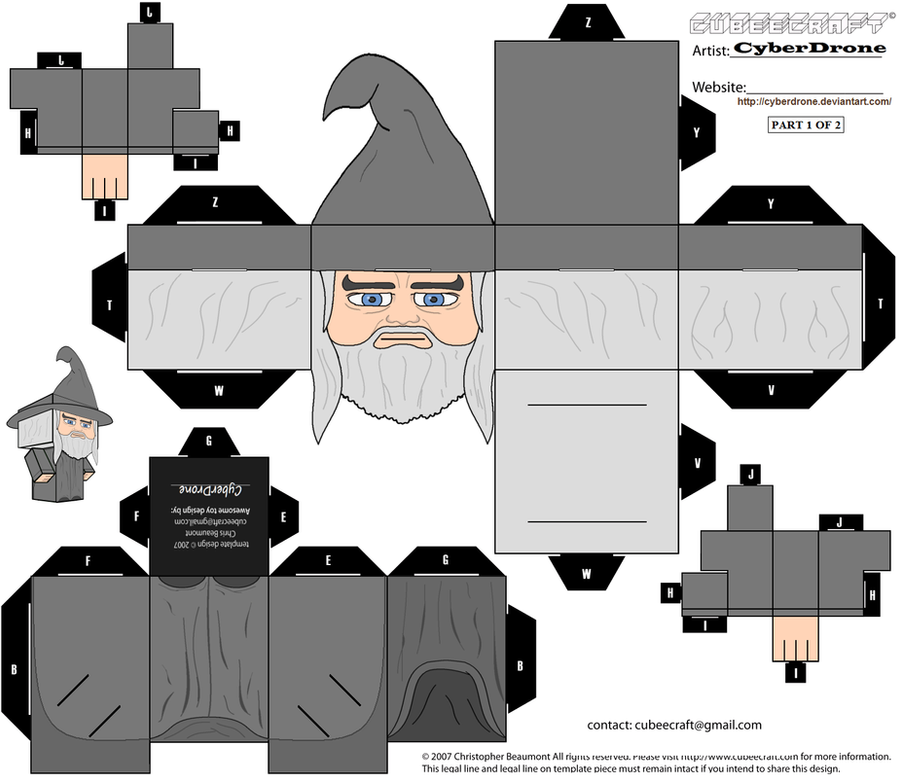 Cubee - Gandalf The Grey '1of2' by CyberDrone