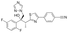 Isavuconazole structure.svg