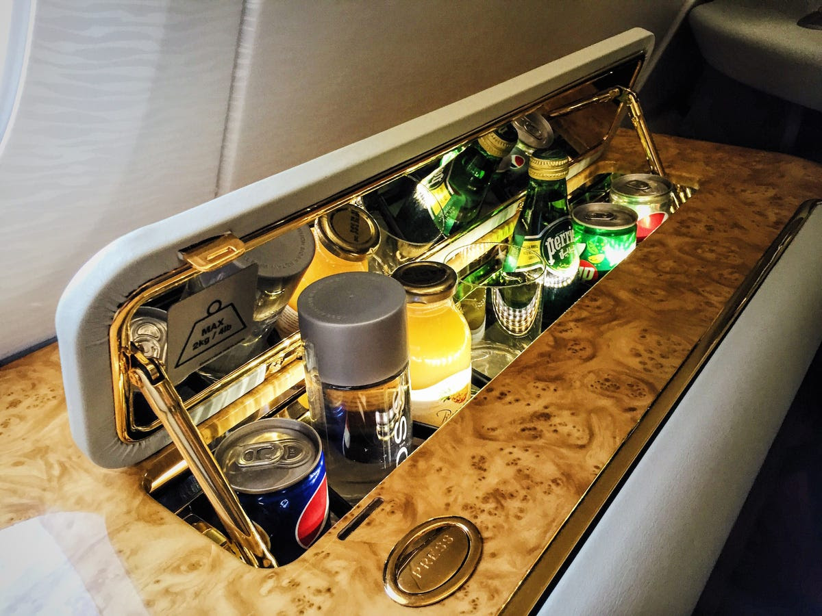 Soft drinks are provided in an automated minibar ...