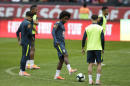 Willian practices with Brazilian team ahead of Copa América