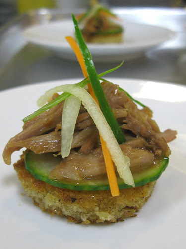 Amuse Bouche - Open Faced Pulled Duck Sandwich Bite