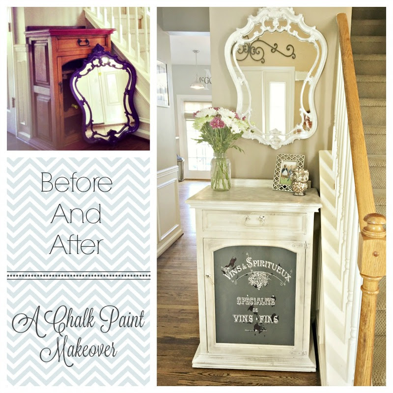 Before And After Entrywaya Chalk Paint Makeover Nikki In
