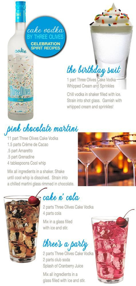 Three Olives Cake Vodka : recipes using the official