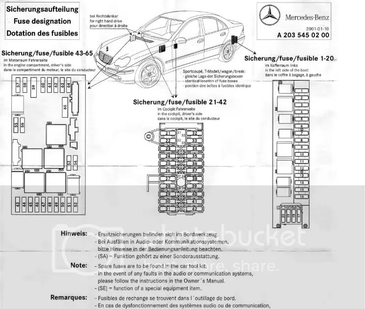Mercede C230 Fuse Box Diagram