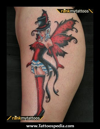 Pin Up Girl Fairy Tattoo