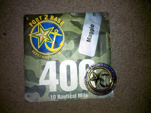 Fort2Base finishers medal is pretty great. Need a dog tag chain though.