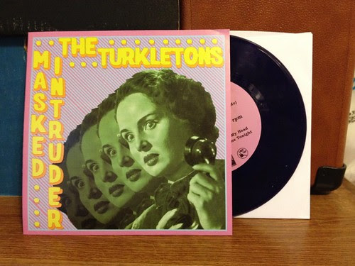"The Turkletons / Masked Intruder - Split 7"" - Purple Vinyl (/250 by Tim PopKid"