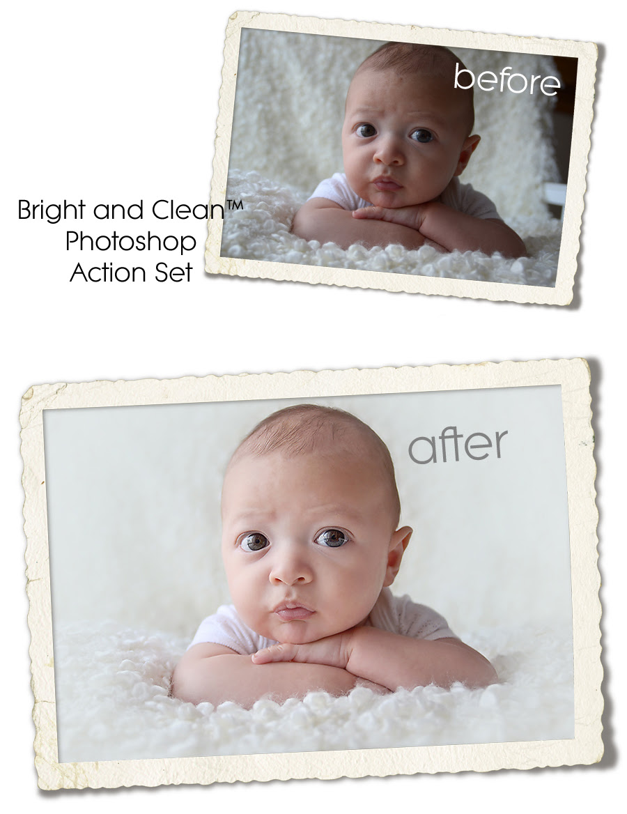Bright and Clean Newborn™ Photoshop Action Set