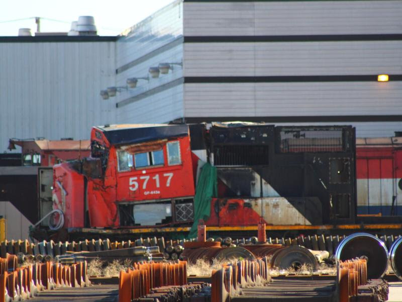 CN 5717 hood in Winnipeg