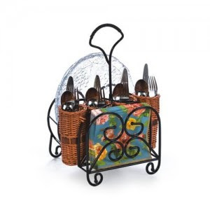 Willow Flatware Caddy for Entertaining