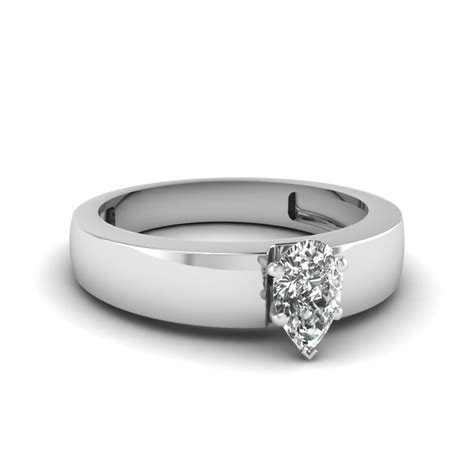 2 Ct. Diamond Solitaire Mens Flat Engagement Ring In 14K