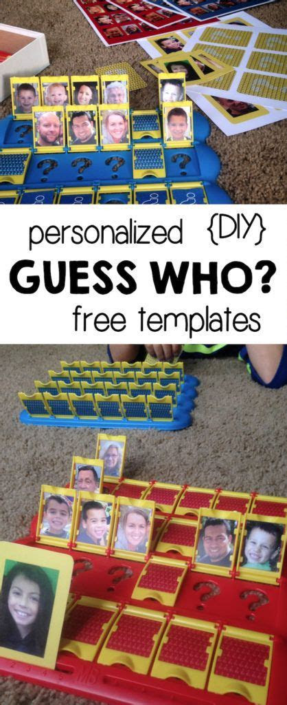 DIY Guess Who Template Free Printables   Free Printables