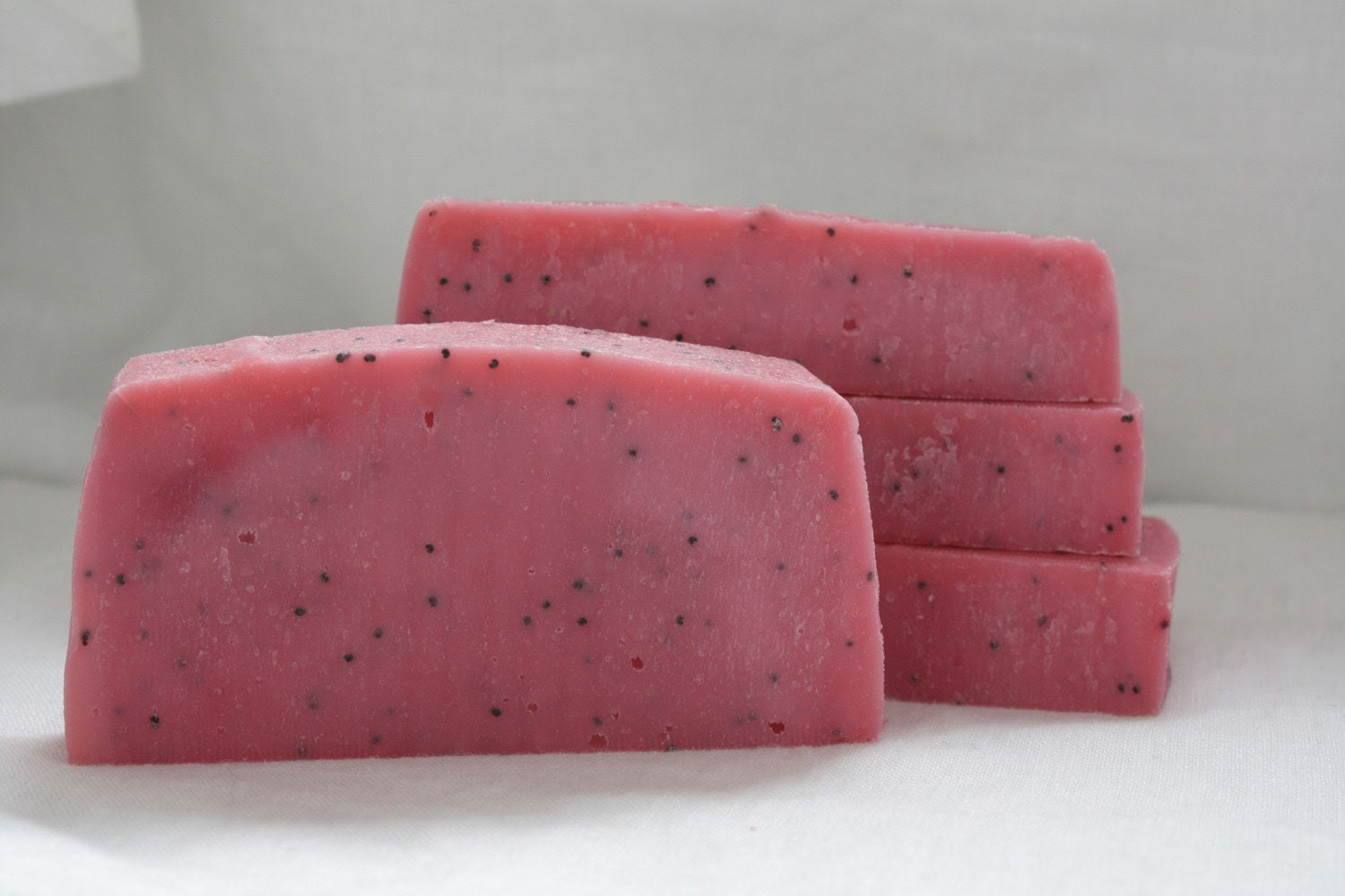 Black Raspberry Vanilla Soap w/Poppyseeds - All Natural - Cold Process